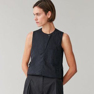 NWT COS NAVY BLUE SLEEVELESS TOP